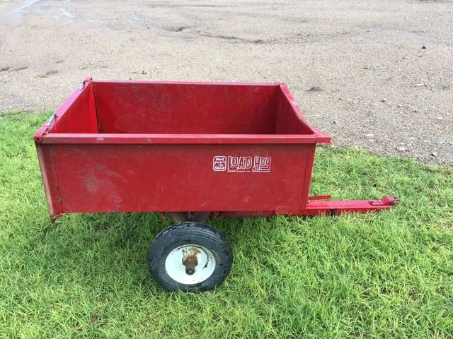 Load Hog Lawn Trailer with foam-filled tires. NO FLATS!!