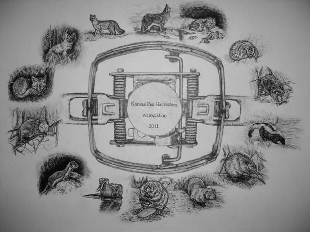 Roach Custom Artwork (Ks. Fur Harvesters Association) #2011#