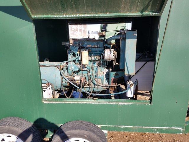 Industrial Generator on enclosed trailer reduced