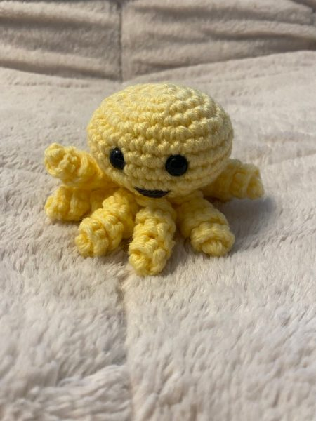 Yellow baby octopus plushies