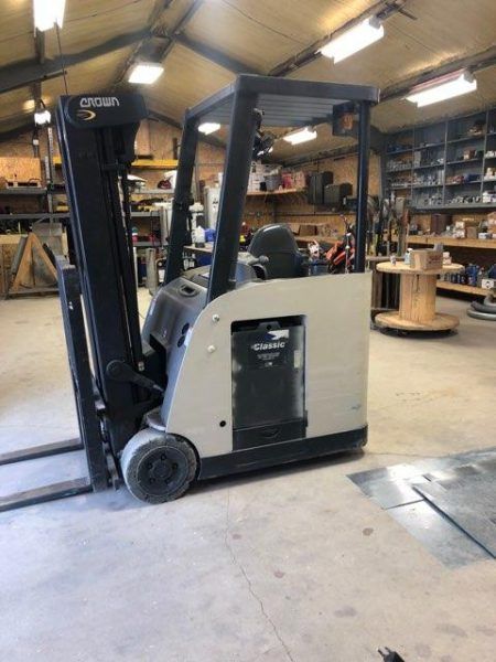 Crown stand on forklift