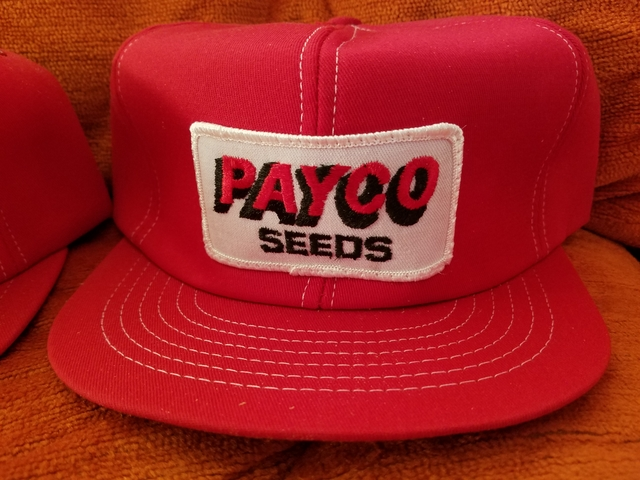 Wanted old farm advertising hats Looking to Buy