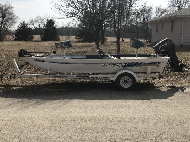 1994 Sea Nymph boat and trailer