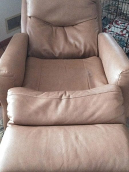 Leather Recliner Seat